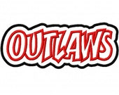 Outlaws Embroidery Machine Applique Design 2533