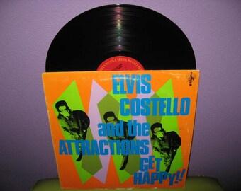 HOLIDAY SALE Vinyl Record Album Elvis Costello - Get Happy LP 1980 Pop Rock Songwriter Icon