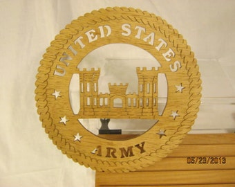 US ARMY ENGINEERS  Scroll Saw Plaque