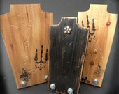 Necklace Display Jewelry Display  SET OF 3 Necklace Stand Wood Vintage Industrial