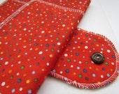 "Medium Flow FOLDABLE Cloth Menstrual Pad w/Wings 9"" - RED"