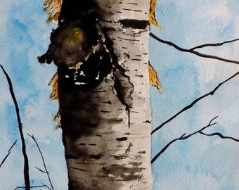 WATERCOLOR ORIGINAL Painting, Original Watercolor Painting-watercolor landscape, Pinetreeart, WATERCOLOR, landscape original, painting