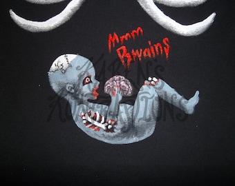 Zombie&Mom's Ribs Maternity Tee Shirt - SHORT sleeve