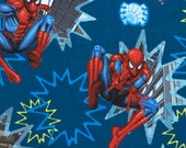 Spiderman City Scenes 100% Cotton Fabric by Marvel - 1.5 yards - Free Shipping