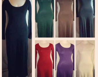 Women Long Sleeves Long Maxi dress, xsmall, small, medium, large, xlarge / optional maternity