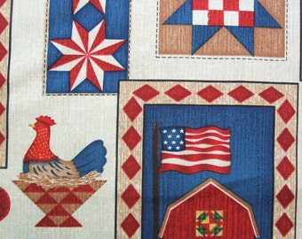 Down on the Farm Quilt Block Patch Country Windham Fabric Yard