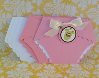 Baby Shower Diaper Invitations - 25 Pink Baby Shower Diaper invitations Baby Owl Diaper Invitations - Birthday - new invitations