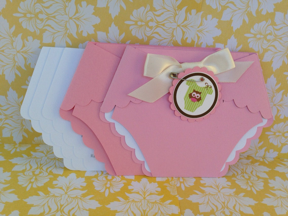 baby shower diaper invitations 25 pink by paperdivainvitations