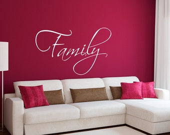 Family Wall Decal   Family Wall Sticker   Living Room Decal   Large Part 64