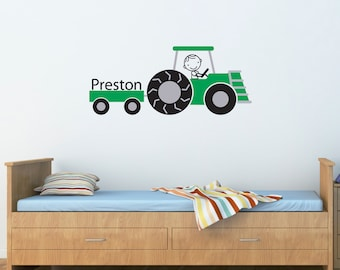 Charmant Tractor Wall Decal   Personalized Name Farm Decal   Farmer Decor   Children Wall  Decals