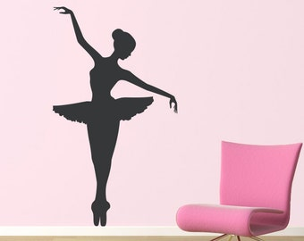 Big Ballerina Wall Decal - Girl Bedroom Decor - Dancing Wall Art - Ballet Sticker