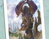 Purple Dragon's Perch 8.5 x 11 Print