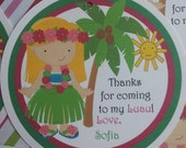 Luau Party favor tag- NEW