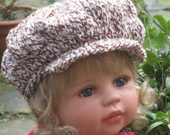 KNITTING PATTERN - Peaked Scally Newsboy Cap 'Cameron' - 2 sizes included Easy pattern pdf