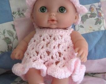Crochet Pattern Doll - Li'l Cutesie Summertime Fun, Dress, Sunhat and Sandals Berenguer
