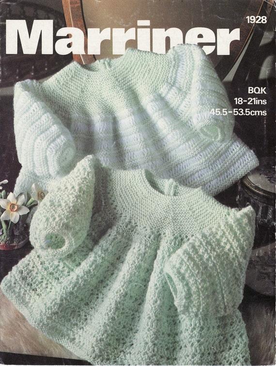 Angel Dress Knitting Pattern : Baby KNITTING PATTERN 2 Angel Tops/Dresses Fits 18 21