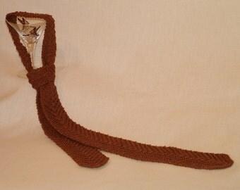 PDF Knitting Pattern Old-Fashioned Handknit Necktie (Instant Download)