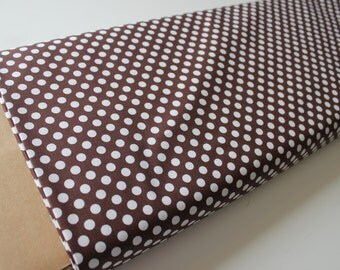 Cotton Dots Small by Riley Blake Designs, Cotton Dots Brown 1/2 yard