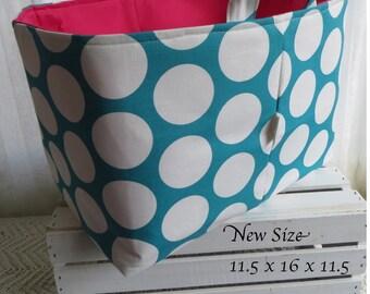 Laundry Toy Bin Basket Storage Container Organizer Dandi dots Premier Print XL 11.5 x 16 x 11.5