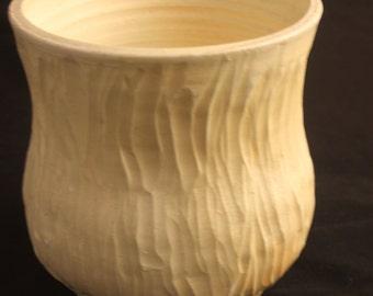 Unglazed wood fired vase