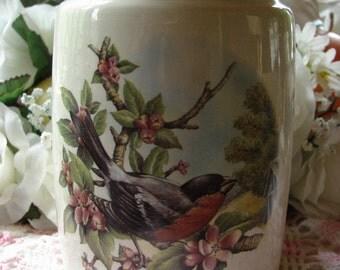 Robin in the Apple Blossoms Ceramic Tea Light Tart Burner