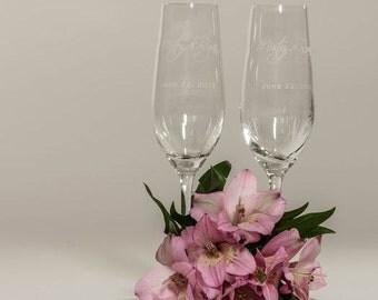 Beautiful Italian Style Personalized Wedding Toasting Glasses 2