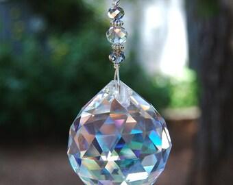 Prism Crystal Suncatcher Window Decoration, Large Hanging Rainbow Crystal Prism, Home Decor