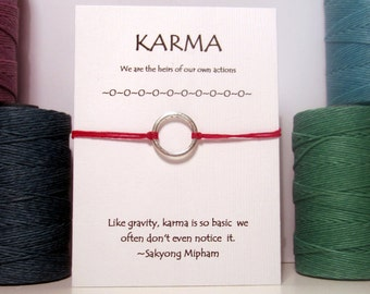 Silver or Gold Karma Wish Bracelet