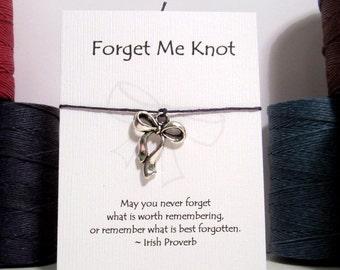 Silver Forget Me Knot  Wish Bracelet
