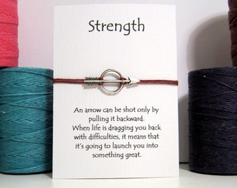 Arrow Strength  Wish Bracelet