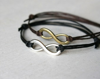 Infinity Bracelet / Infinity Anklet (many colors to choose)