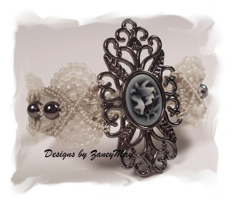 Romantic Lace Macrame Bracelet Pattern In Pdf