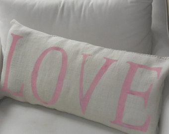 Big LOVE pillow slip