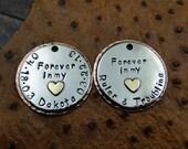 Custom Memorial Pet Tag-Forever in my Heart Memorial Tag-Memorial Pendant or Keychain Fob