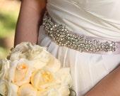 Galina Wedding bridal dress gown beaded jeweled crystal belt embellishment