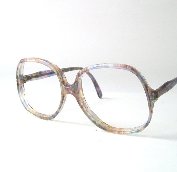 Vintage Eyeglass Frames Etsy : vintage blue frames eye glasses round by RecycleBuyVintage ...