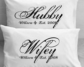 Couples  Pillow Cases Custom Personalized...