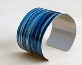 Calm Waters - Aluminum Cuff Bracelet