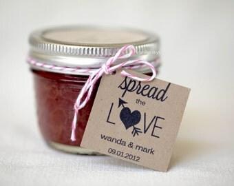 Spread The Love - favor jam jelly tags