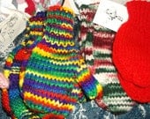 Hand knitted Mittens for the adult
