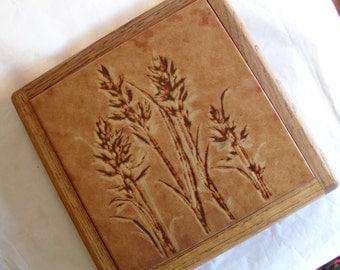 Oak Wheat Tile Hot Plate
