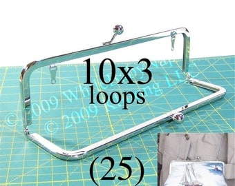 24% OFF 25 Nickel-free 10x3 purse frame kisslock with LOOPS
