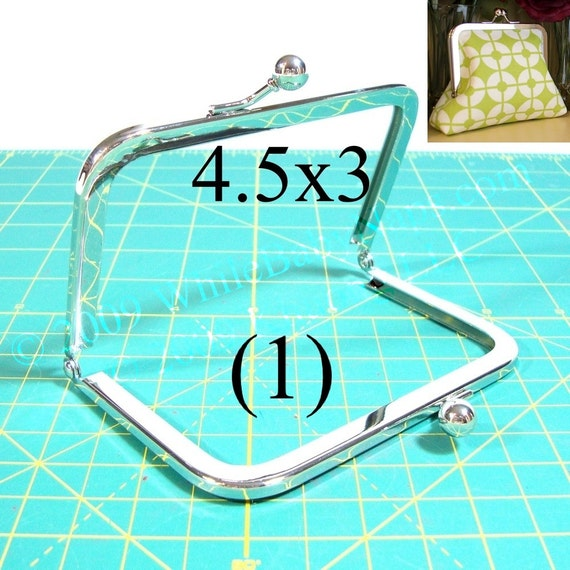 4.5x3 Nickel-free metal purse frame(TM)