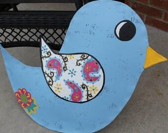Paisley Bird Door Decoration