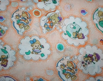 Sleepy Time Babies Elephants Bears Fabric 1 Yard