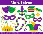 Mardi Gras Clipart - Digital Clip Art Graphics for Personal or Commercial Use