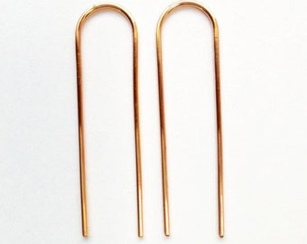 Arc Earrings Long (rose gold filled wire) IN STOCK!