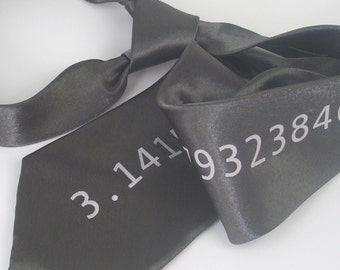 Pi Necktie - Premium Quality Microfiber Tie - Gift wrapped - Choose color and quantity