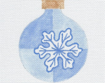 Snowflake Needlepoint Ornament - Jody Designs - SM1
