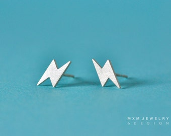 Tiny Sterling Silver Flash Stud Earrings